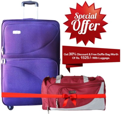 Take Off CEILNE SPN 68 PURPLE Expandable  Check-in Luggage - 26.7