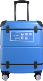TRAWORLD 24 inch 4wheel Expandable Check-in Luggage - 24 inch(Blue)