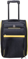 Giordano Expandable  Cabin Luggage - 18 inch(Yellow, Black)