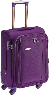 Princeware Leo Polyester 55 cm Softsided Carry-On Expandable  Cabin Luggage - 21.7