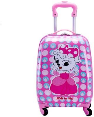T-Bags My Katty 4 Wheel Pink Trolley Bag 18 Inch Cabin Luggage - 18