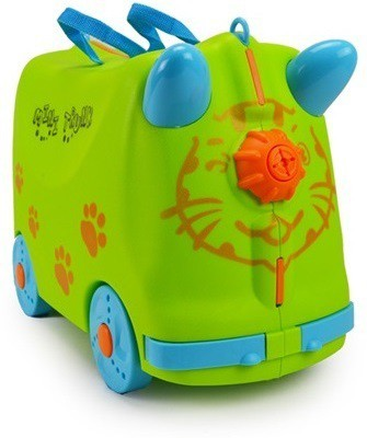 Toys Bhoomi Kids Mini Trunk Ride and Roll Suit Case Luggage Small Travel Bag