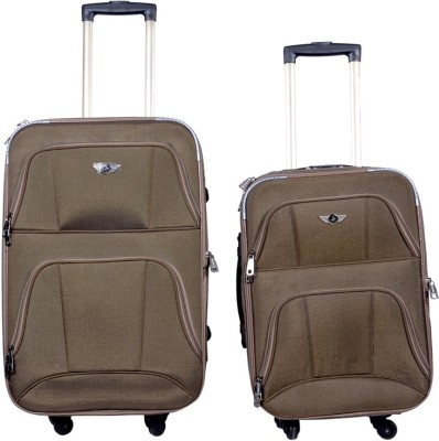 Sk Bags OLFA 20+24 Inch SET STROLLY BAG BR Expandable  Check-in Luggage - 25