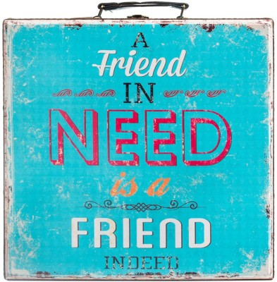 Chumbak A Friend In Need Is A Friend Indeed Suitcase-Large Cabin Luggage - 5.511811023622047