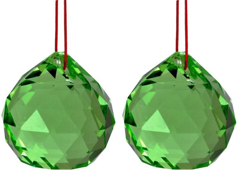 Divya Mantra Glass Sun Catcher(Green)