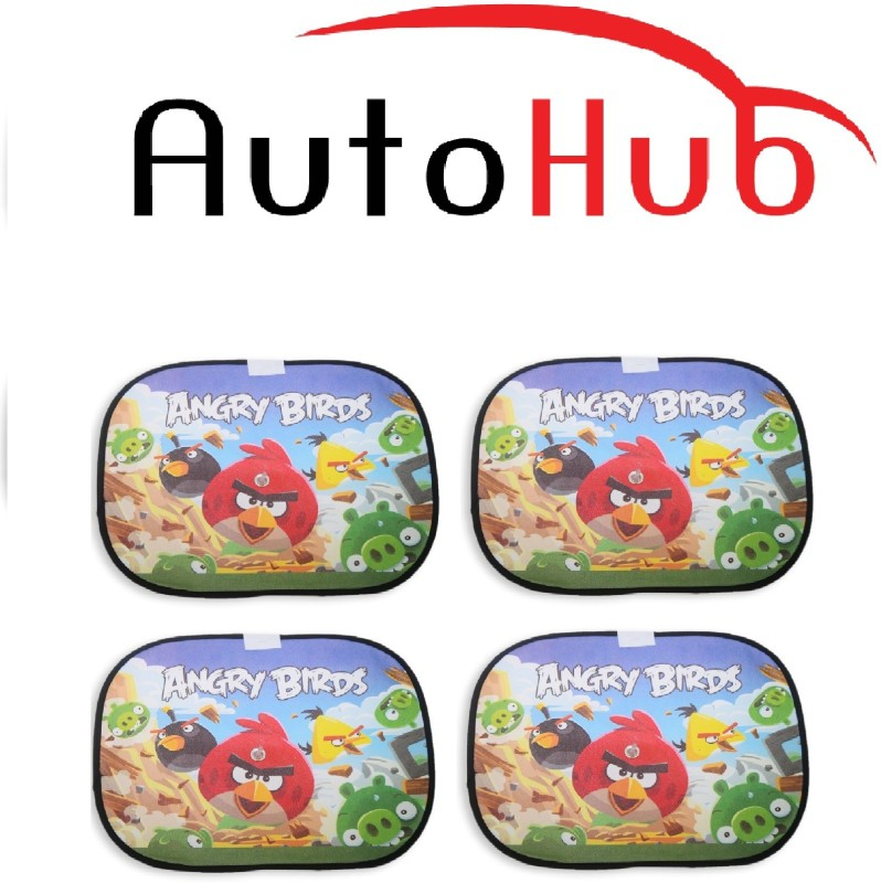 Auto Hub Side Window Sun Shade For Skoda Octavia(Red, Blue, Green)