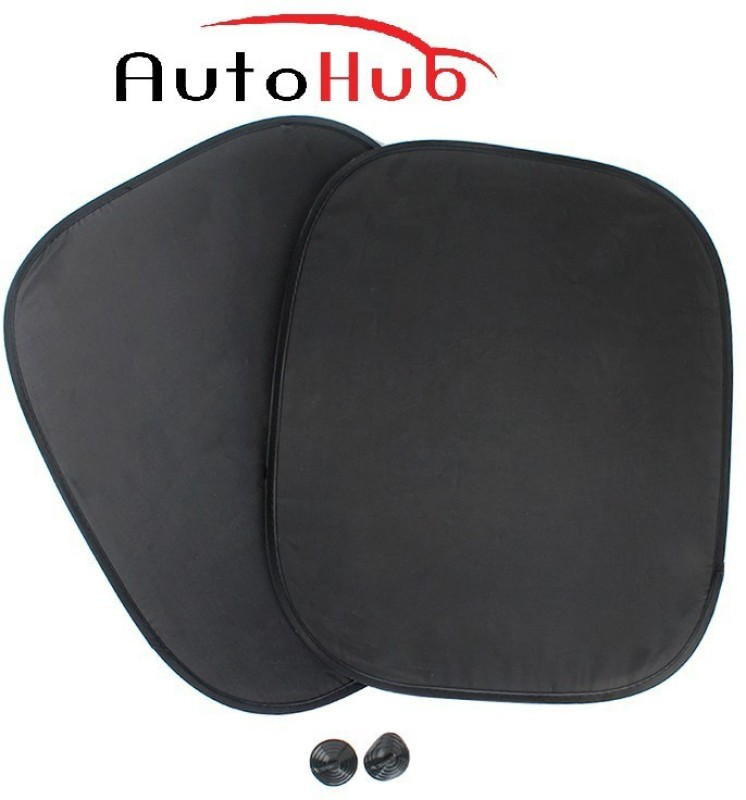 Auto Hub Side Window Sun Shade For Skoda Octavia(Black)