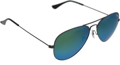 Vast MIRROR GOLD PINK AVIATOR POLO Aviator Sunglasses(Blue)