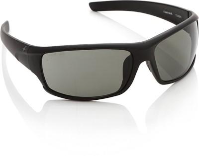 Fastrack P223GR1 Wrap-around Sunglasses(Green)