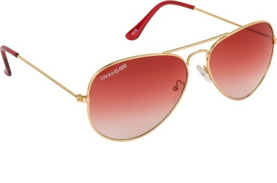 Danny Daze D-603-C11 Aviator Sunglasses(Red)