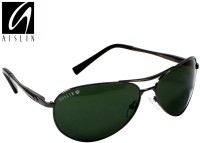 Aislin AS-3509DH-5-GUN Aviator, Wrap-around Sunglasses(Green)