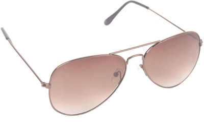 6by6 SG253 Aviator Sunglasses(Brown)