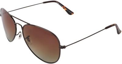 Xross X-006-C6-59 Aviator Sunglasses(Brown)