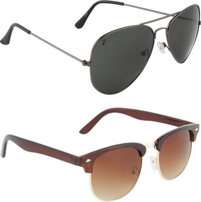 Zyaden COM71 Aviator, Oval Sunglasses(Black)