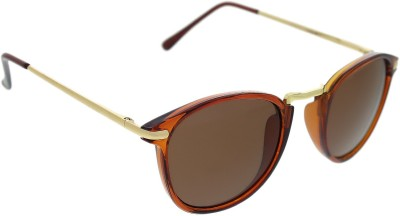Vast WOMENS _1435_STRIPES_BROWN Over-sized Sunglasses(Brown)