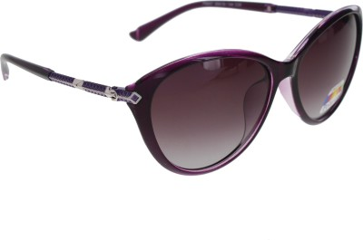 Vast WOMENS _POLO_8605_PURPLE Cat-eye Sunglasses(Violet)