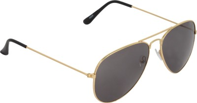 NB Golden Black Good Look Aviator Sunglasses