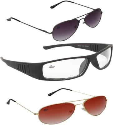 ABLOOM Rectangular, Aviator Sunglasses