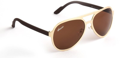 Amaze AM0994 Aviator Sunglasses(Brown)