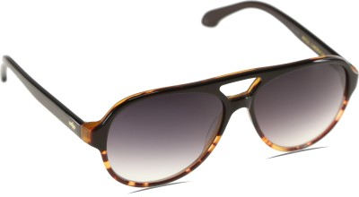 Mango Pickles A-1035-Brown-Demi Aviator Sunglasses(Black)