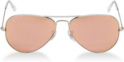 Ray-Ban RB3025019/Z2 Aviator Sunglasses(Brown) at flipkart