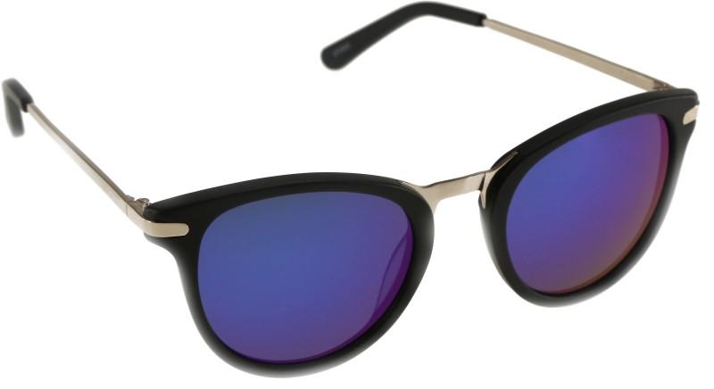 Mango Pickles R-2018-Black Oval Sunglasses(Black)