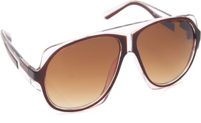6by6 SG794 Aviator Sunglasses(Brown)