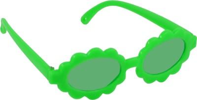Angel Glitter Green Children of Woolpit Sunflower style Kids Fashion Oval Sunglasses