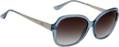 Fave FV010F02 Oval Sunglasses(Grey)