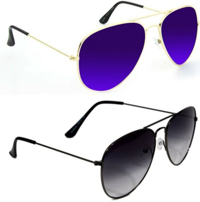 Epic Ink aset2090 Aviator Sunglasses(Violet, Black)