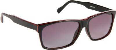 Cristiano Ronnie Black & Red Rectangular Sunglasses