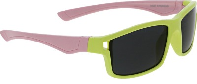 Vast KIDS_WRAP_AROUND_RECTANGLE_BABY_YELLOW_PINK Rectangular Sunglasses(For Boys)