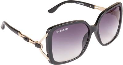 Danny Daze D-243-C1 Over-sized Sunglasses(Black)