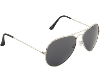 IRAYZ 1244 Aviator Sunglasses(Black)