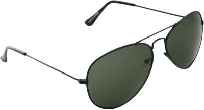 Allen Cate Dark Green Aviator Sunglasses