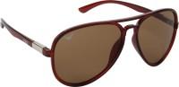 NOD NOD062K15IN0756 Aviator Sunglasses(Brown)