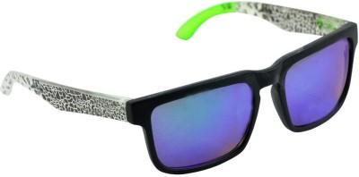 Alphaman Mirror Man in Green Screen Wayfarer Sunglasses