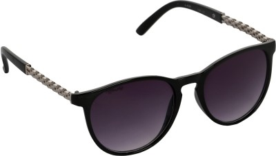 Affaires A-424 Black Oval Sunglasses