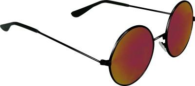 Garmor (8903522114861 /Red Color Black Frame) Round Sunglasses