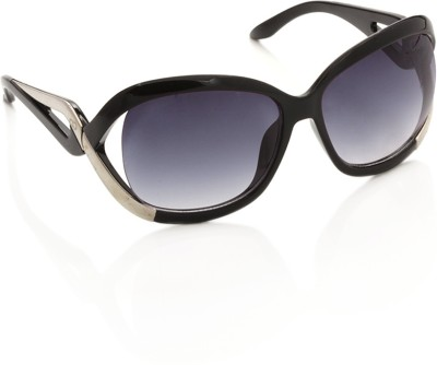 Gio Collection SH13037-1356 black P12314 Over-sized Sunglasses(Violet) at flipkart