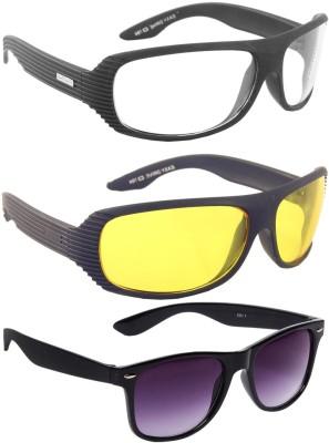 Crad Night Drive and wayfarer combo Sports, Wrap-around, Wayfarer Sunglasses