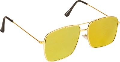 Danny Daze D-803-C6 Rectangular Sunglasses(Yellow)