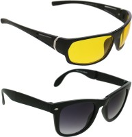 Vast PLUSCOMBO_LATESTYK_FOLDABLE Sports Sunglasses(Yellow)