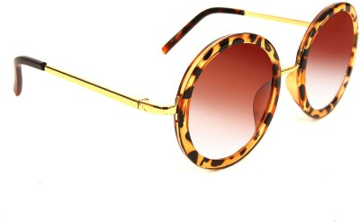 AQ Lesley Brown Printed Round Sunglasses