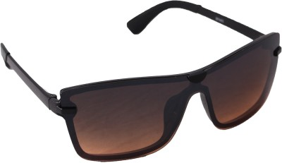 QWERTY Retro Brown Square Stylish Wayfarer Sunglasses