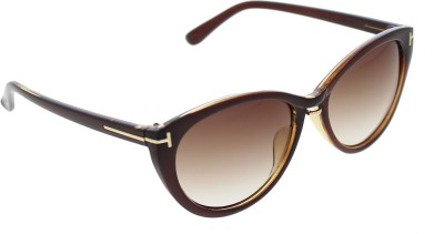 Vast TFCAT_96008_BROWN_W Oval Sunglasses(Brown)