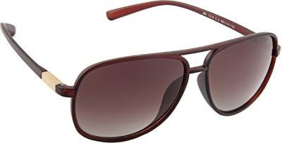 Farenheit 1315P Rectangular Sunglasses(Brown) at flipkart