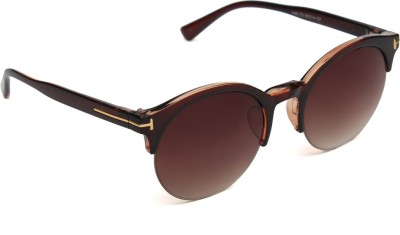 6by6 SG1107 Round Sunglasses(Brown)
