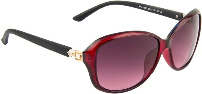 Farenheit FA-1650-C2 Oval Sunglasses(Violet) at flipkart