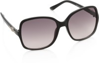 Gio Collection SH13038-1341 black P12318 Over-sized Sunglasses(Violet)
